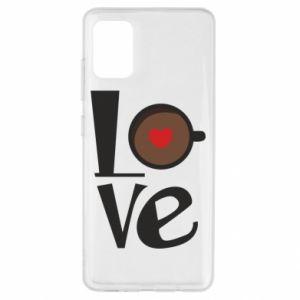 Etui na Samsung A51 Love coffee