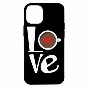 Etui na iPhone 12 Mini Love coffee