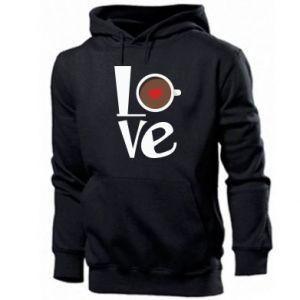 Men's hoodie Love coffee