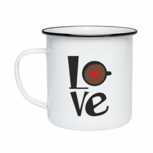Kubek emaliowany Love coffee