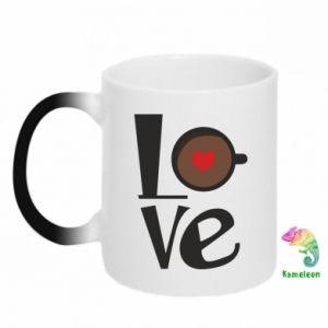 Kubek-magiczny Love coffee