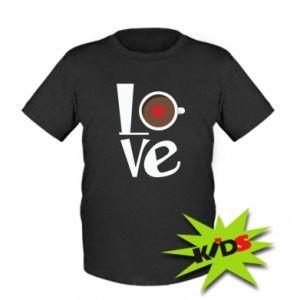 Koszulka dziecięca Love coffee