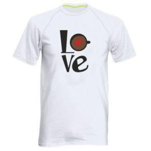 Koszulka sportowa męska Love coffee
