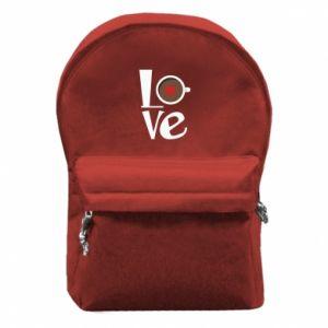 Plecak z przednią kieszenią Love coffee