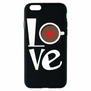 Etui na iPhone 6/6S Love coffee