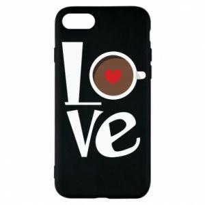 Etui na iPhone 7 Love coffee