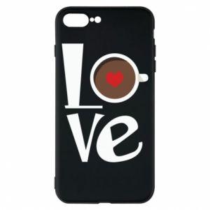Etui na iPhone 8 Plus Love coffee
