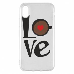 Etui na iPhone X/Xs Love coffee