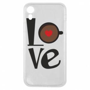 Etui na iPhone XR Love coffee