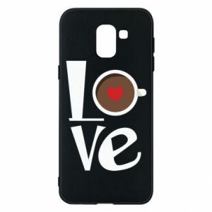 Etui na Samsung J6 Love coffee