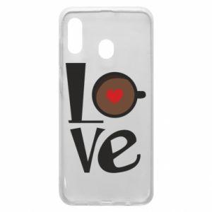 Etui na Samsung A20 Love coffee