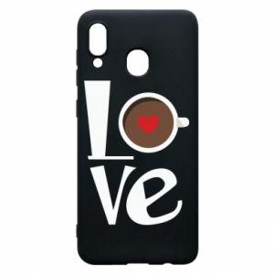 Etui na Samsung A30 Love coffee