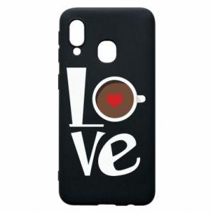 Etui na Samsung A40 Love coffee