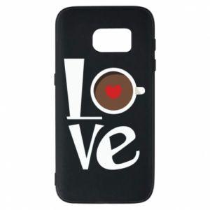 Etui na Samsung S7 Love coffee
