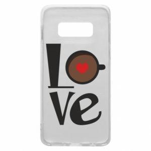 Etui na Samsung S10e Love coffee