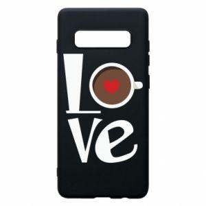 Etui na Samsung S10+ Love coffee