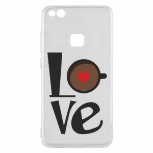 Etui na Huawei P10 Lite Love coffee