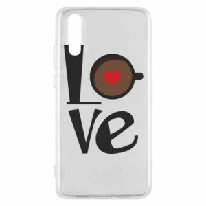 Etui na Huawei P20 Love coffee