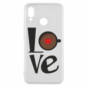 Etui na Huawei P20 Lite Love coffee