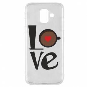 Etui na Samsung A6 2018 Love coffee
