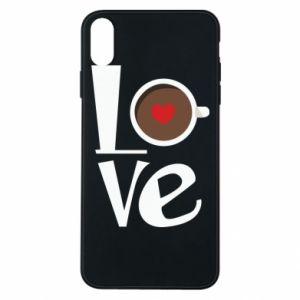 Etui na iPhone Xs Max Love coffee