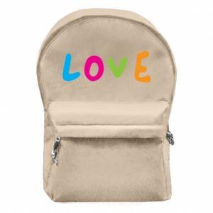 Plecak z przednią kieszenią Love, color