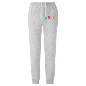 Męskie spodnie lekkie Love, color