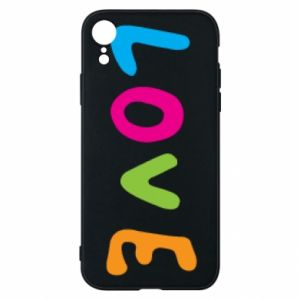 Etui na iPhone XR Love, color