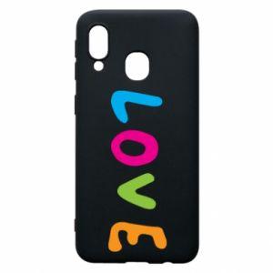 Etui na Samsung A40 Love, color
