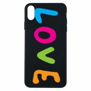 Etui na iPhone Xs Max Love, color