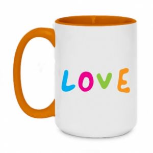 Kubek dwukolorowy 450ml Love, color