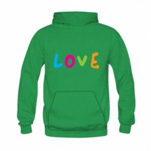 Bluza z kapturem dziecięca Love, color