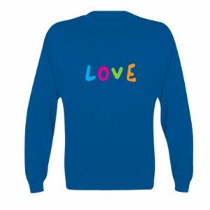 Bluza dziecięca Love, color