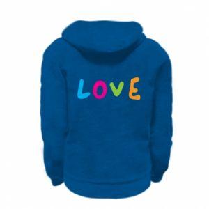 Bluza na zamek dziecięca Love, color