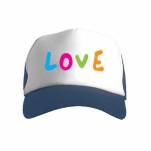 Czapka trucker dziecięca Love, color