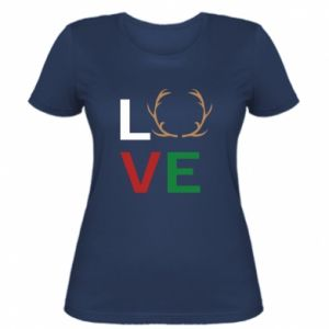 Women's t-shirt Love deer