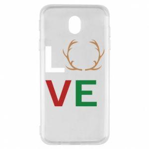 Etui na Samsung J7 2017 Love deer