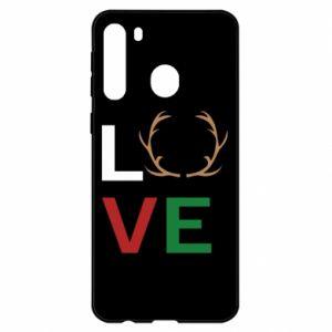 Etui na Samsung A21 Love deer