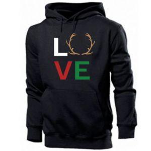Men's hoodie Love deer