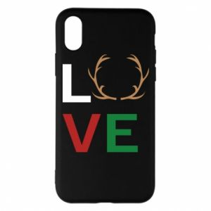 Phone case for iPhone X/Xs Love deer