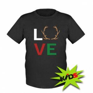 Kids T-shirt Love deer