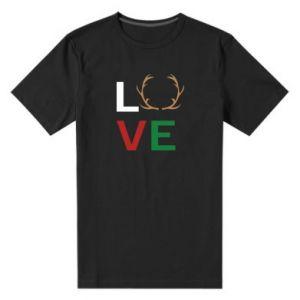 Men's premium t-shirt Love deer