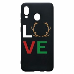 Phone case for Samsung A20 Love deer