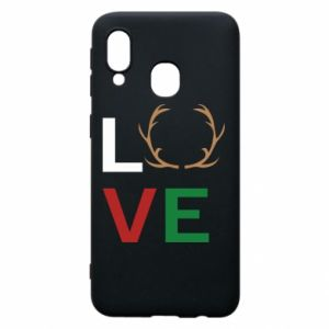 Phone case for Samsung A40 Love deer