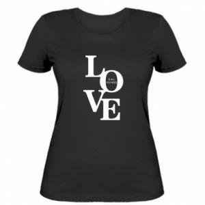 Damska koszulka Love is all you need
