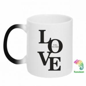 Kubek-kameleon Love is all you need