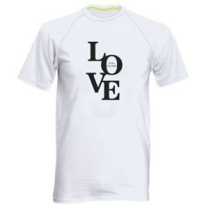 Koszulka sportowa męska Love is all you need