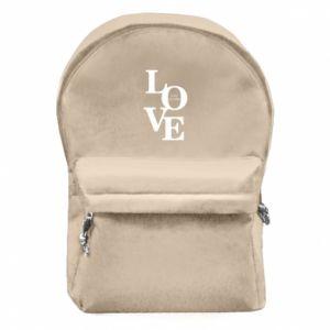 Plecak z przednią kieszenią Love is all you need