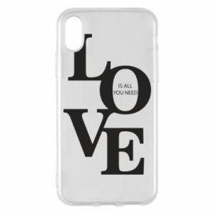 Etui na iPhone X/Xs Love is all you need