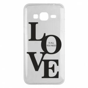 Etui na Samsung J3 2016 Love is all you need